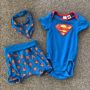 H&M 3 Piece Superman Set